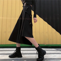 RETRO RIBBON IRREGULAR SKIRT