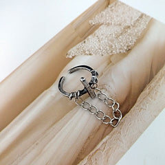 VINTAGE CROSS CHAIN RING(3PCS)