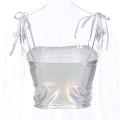 IRIDESCENT CROP TOP