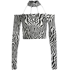 ZEBRA CHAIN SLIM TOP