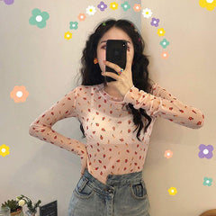 FLORAL TRANSLUCENCT TOP