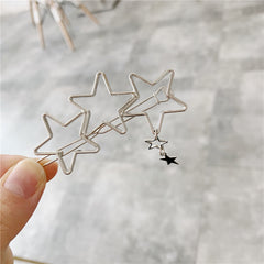 PENTAGRAM HEART HAIR CLIP (4PCS)