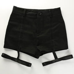 HIGH WAIST BLACK SHORTS