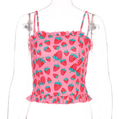 STRAWBERRY FRILL VEST