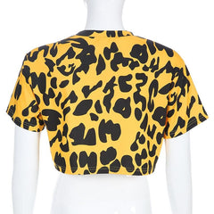 3D STEREO LEOPARD TOP