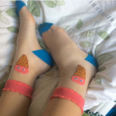 ICE CREAM MESH SOCKS