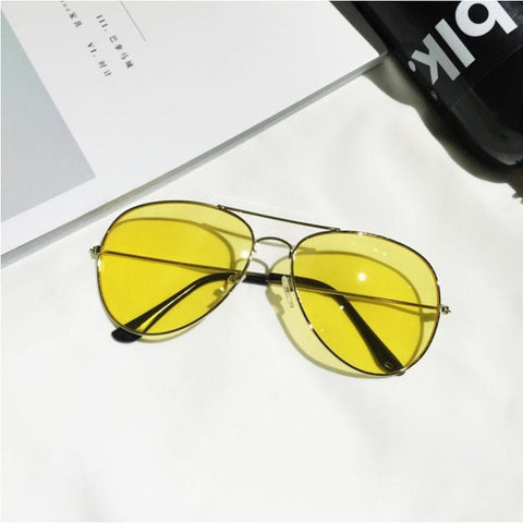 YELLOW TINT SUNGLASSES