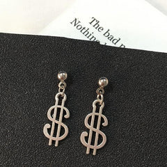 DOLLAR SIGN EARRINGS