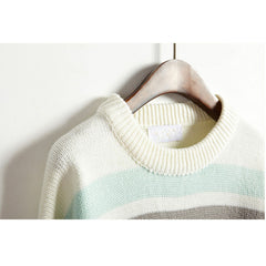 COLOURFUL STRIPED KNITTED