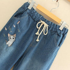 CAT EMBROIDERY JEANS
