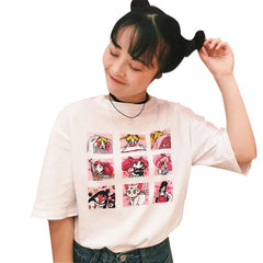 KAWAII COMIC GRID TEE