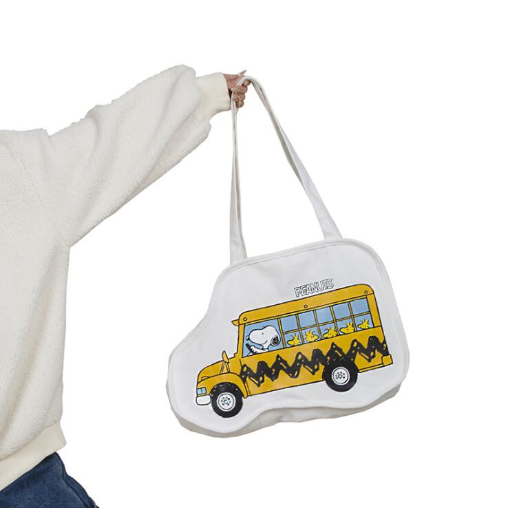 KAWAII BUS CANVAS BAG