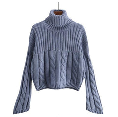WEAVED TURTLENECK KNITTED