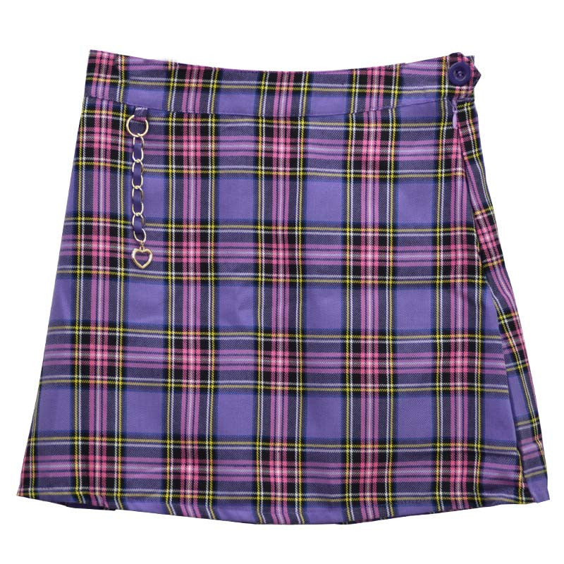CHAIN PURPLE SKIRT