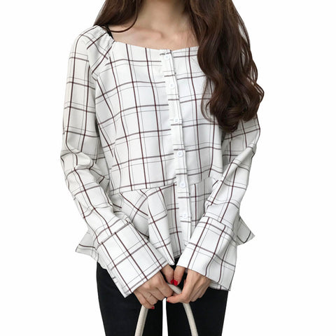 CUTE GRID SHIRT