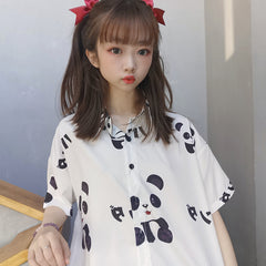 KAWAII PANDA PRINT SHIRT