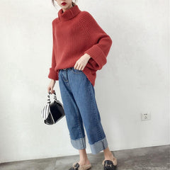 RIBBED TURTLENECK KNITTED