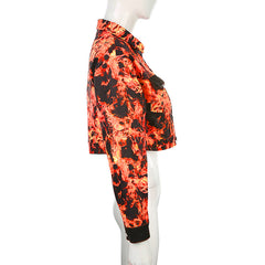 HIP HOP FLAME PRINT SET