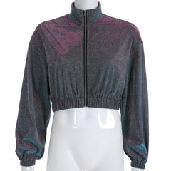 SHINY DISCO QUEEN CROPPED JACKET