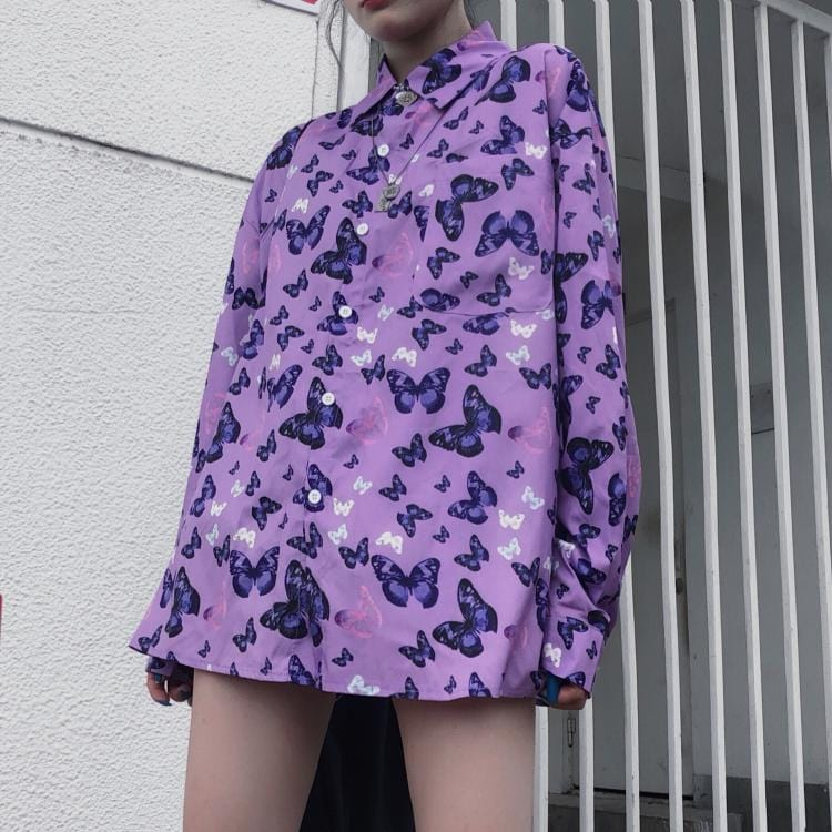 BUTTERFLY FULL PRINTED SHIRT
