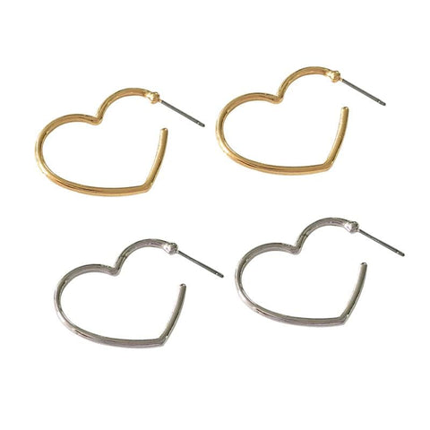 HEART OUTLINE EARRINGS