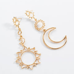 SUN & MOON DANGLE EARRINGS (2pairs)