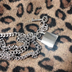 KEY AND LOCK PENDANT NECKLACE
