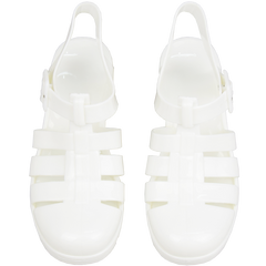 WHITE JELLY SANDALS (4.5-8.5)