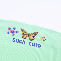 SUCH CUTE BUTTERFLY TUBE TOP