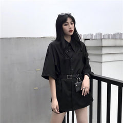 CASUAL SHIRT WITH BAG BELT