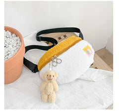 PLUSH WAIST BAG WITH BEAR PENDANT