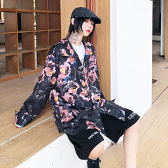 RETRO FLOWER PRINT LONG SLEEVE SHIRT