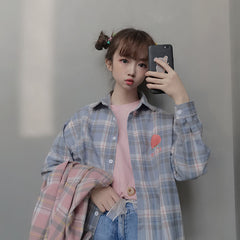 JAPANESE PLAID LONG SLEEVE SHIRT