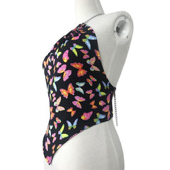 COLORFUL BUTTERFLY CROP TOP