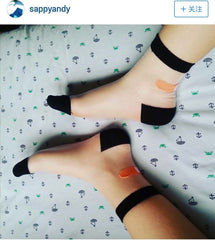 BLACK BAND-AID SOCKS