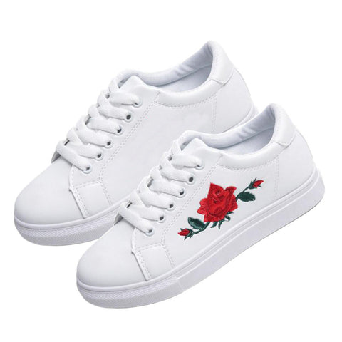 WHITE ROSEY SHOES (5.5-8.5)
