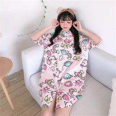 KAWAII RAINBOW STRAWBERRY SHIRT DRESS
