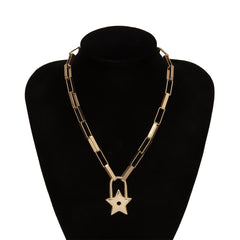 STAR LOCK THICK CHAIN NECKLACE