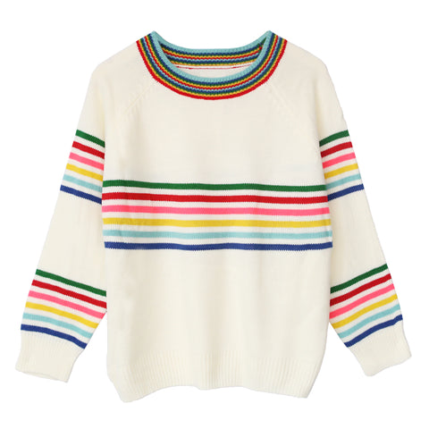 RAINBOW STRIPE KNITTED