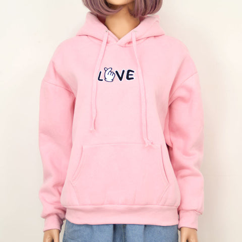 PINK LOVE HOODIES