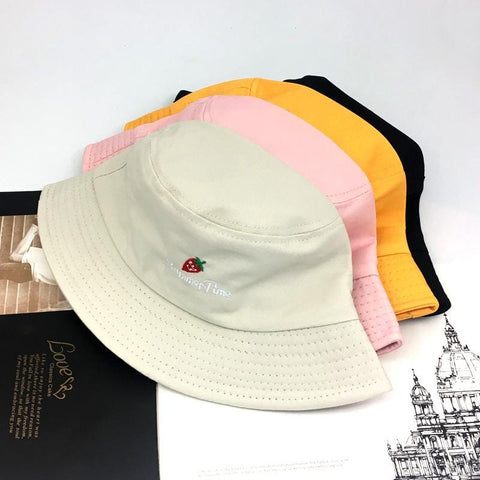 STRAWBERRY EMBROIDERY HAT
