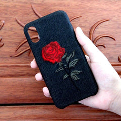 ROSE EMBROIDERY SOFT CASE (I6 I6+ I7 I7+I8 I8+ IX)