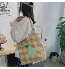 JAPANESE PEACH/PEAR CANVAS SHOULDER BAG