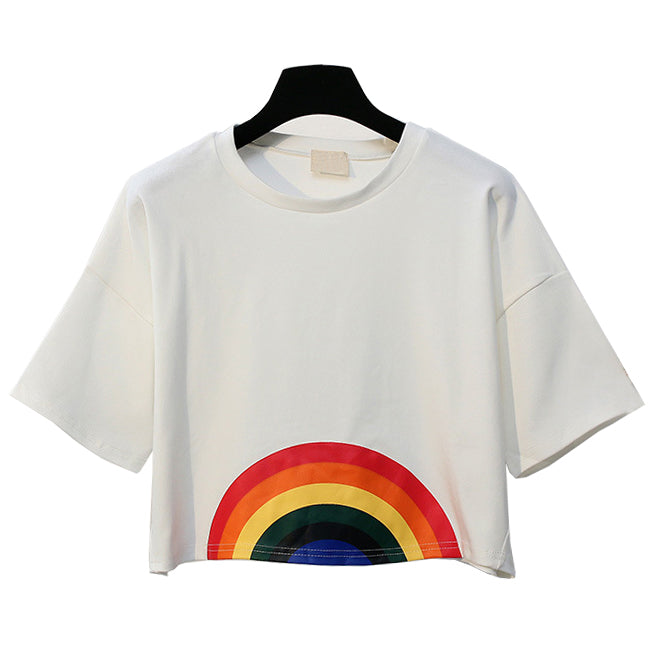 RAINBOW CROP TOP