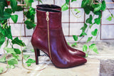 Made in Italy Leather ankle stiletto Boots from Portamento
