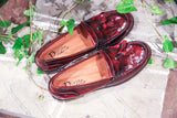 BELLA RED - Made in Italy Leather Loafers Shoes from Portamento