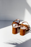 Dana Brown Suede Sandals