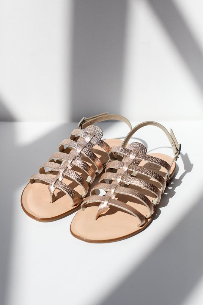 Giada Rose Gold Sandals
