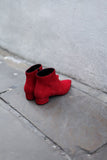 Gilda Red Suede Ankle Boots