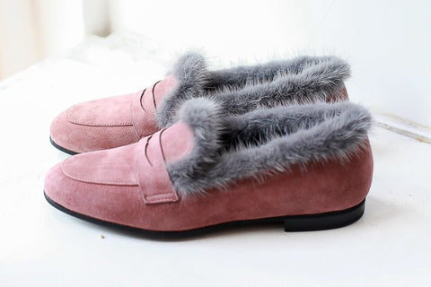 Ene Mauve Loafers